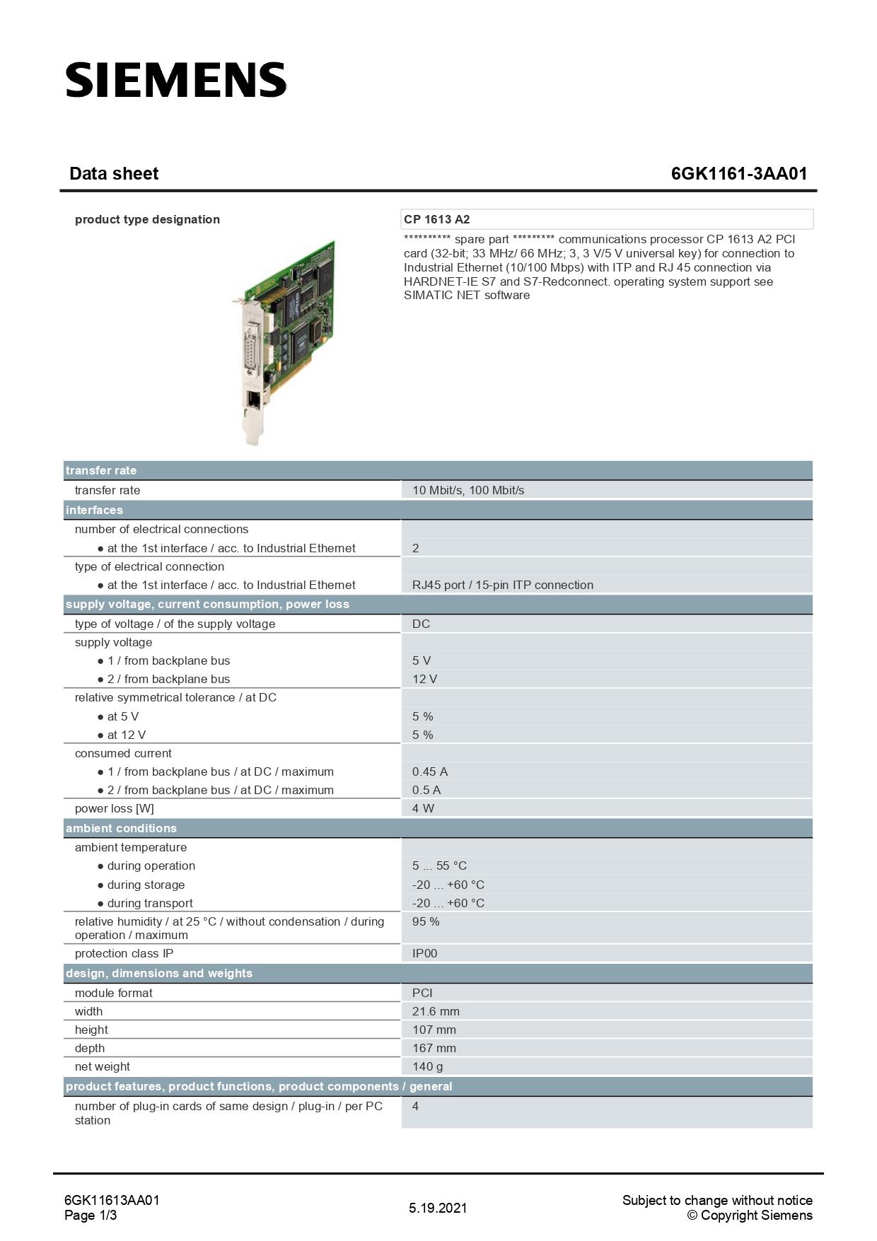 6GK11613AA01_datasheet