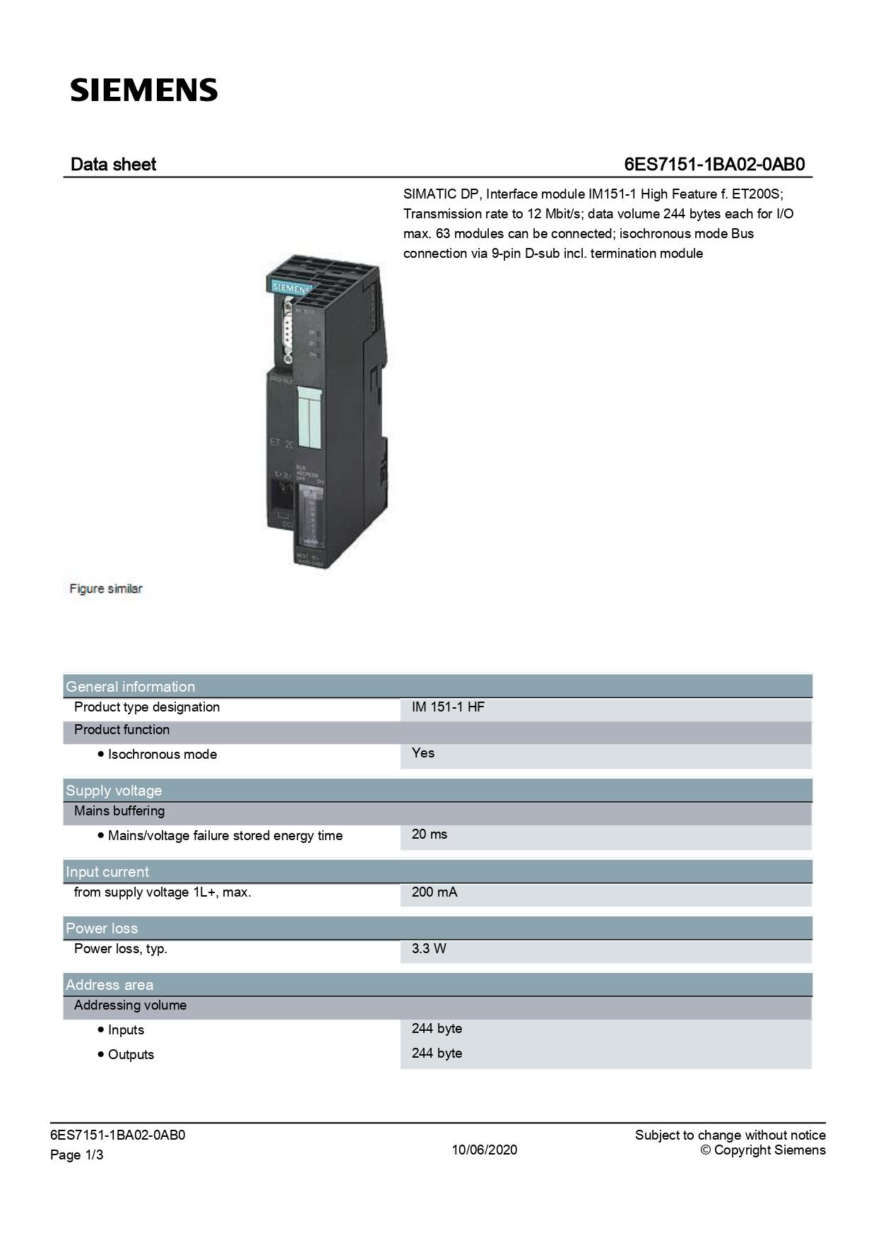 6ES7151-1BA02-0AB0_datasheet