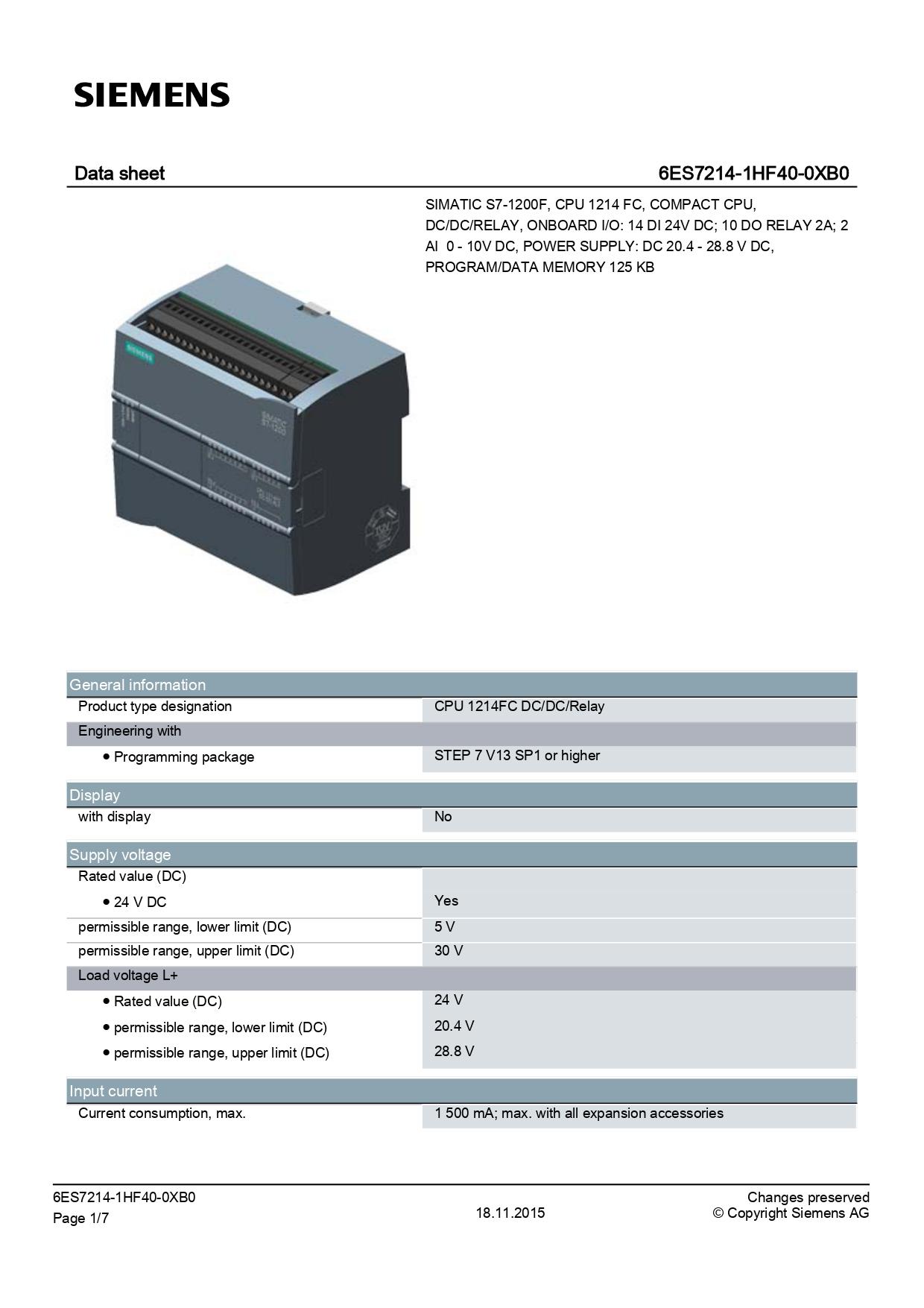 6ES7214-1HF40-0XB0_datasheet
