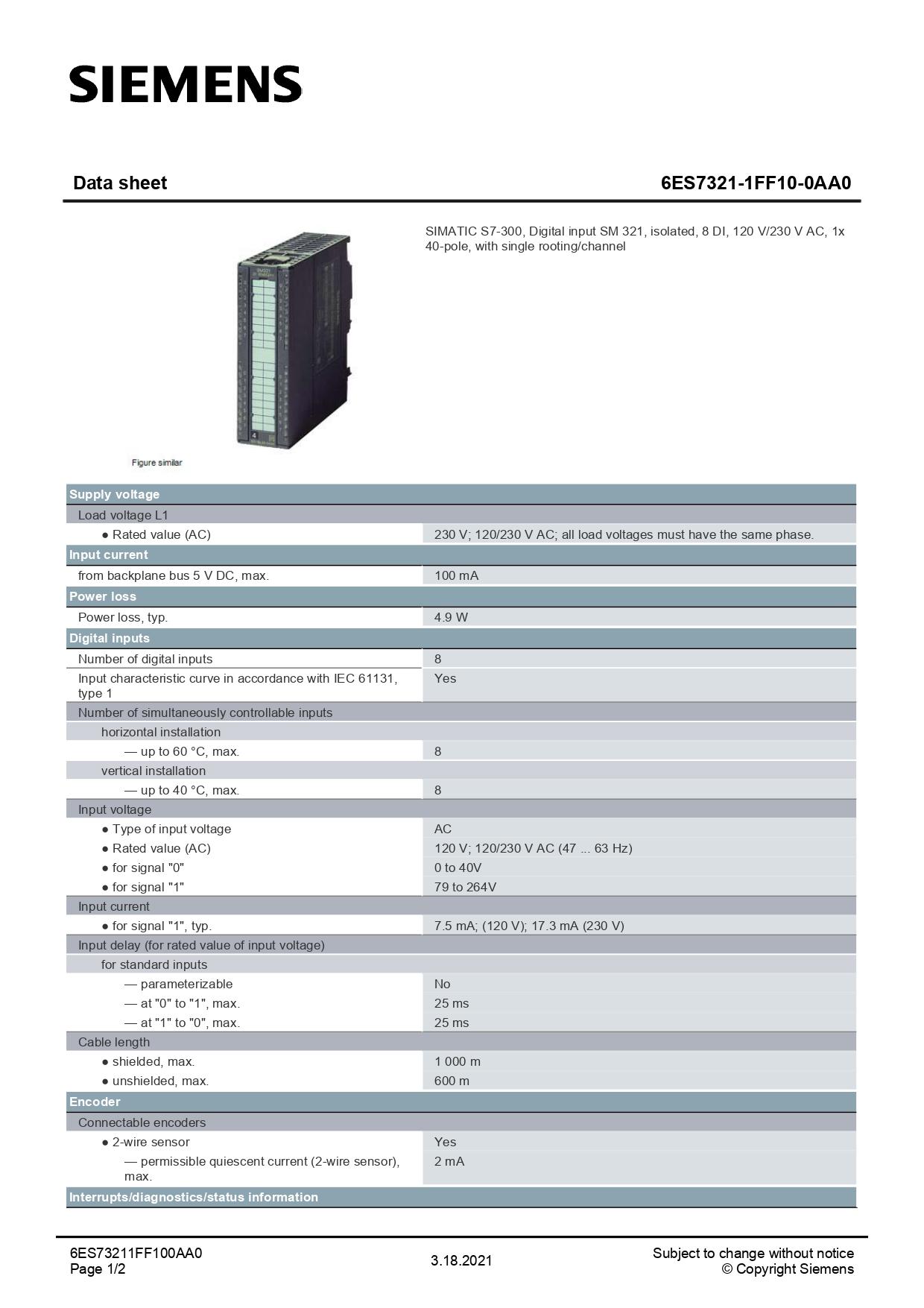 6ES7321-1FF10-0AA0_datasheet