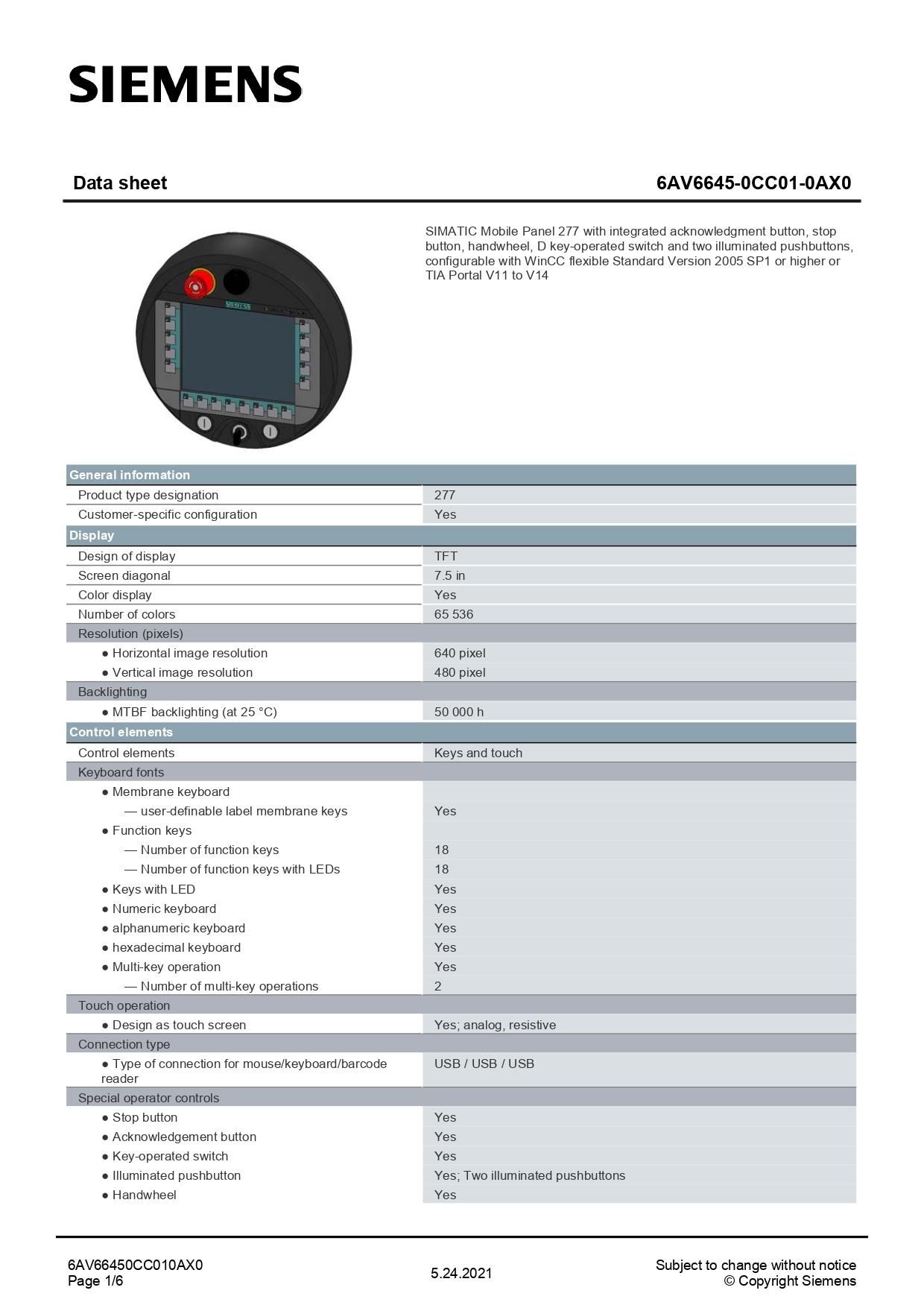 6AV66450CC010AX0_datasheet