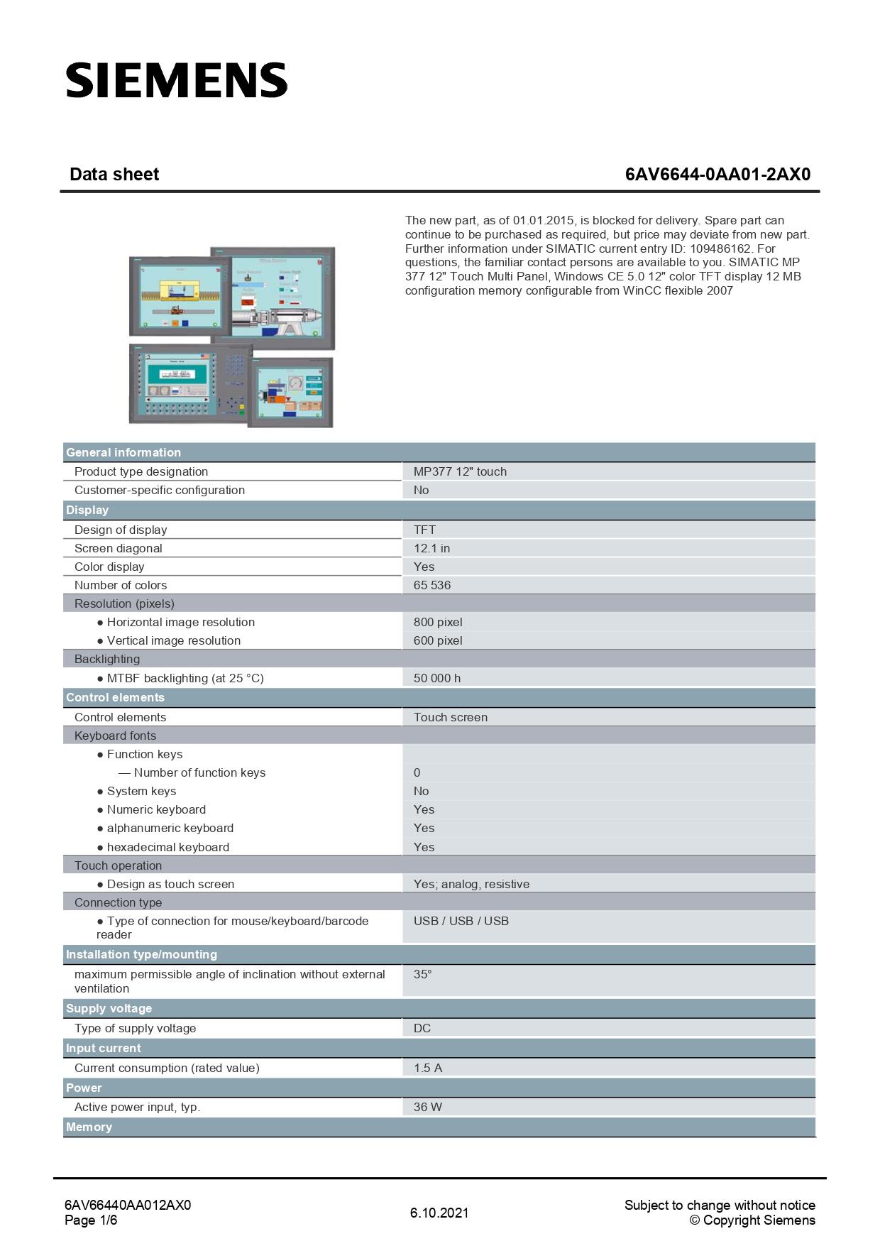 6AV66440AA012AX0_datasheet